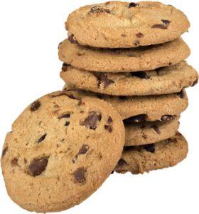 Stapeltje chocolade koekjes
